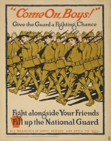 Vintage National Guard Recruiting Poster